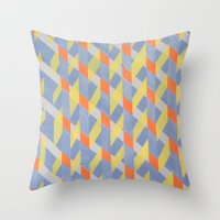 broken Throw Pillows featuring Broken  by ronnie mcneil