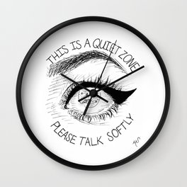 Quiet Zone Wall Clock