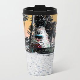 Beach Graffiti Travel Mug