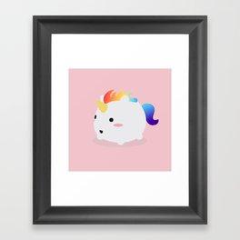 Kawaii rainbow fattycorn Framed Art Print