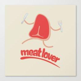 Meat lover - T bone Canvas Print