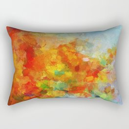 Abstract and Minimalist Landscape Painting Rectangular Pillow