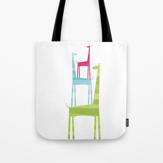 Giraffe Trio Tote Bag