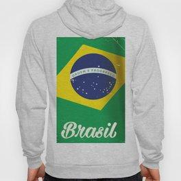 Brasil Nation flag travel poster Hoody