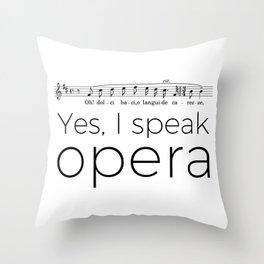 I speak opera (tenor) Throw Pillow