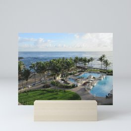 Atlantic Ocean view from Caribe Hilton, San Juan, Puerto Rico Mini Art Print