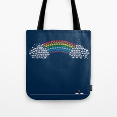 Rainbow Invaders Tote Bag