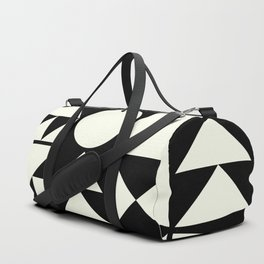 Mid Century Style Shapes in Black and White Duffle Bag