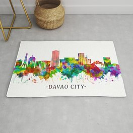 Davao City Philippines Skyline Rug