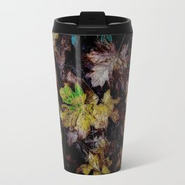 Autumn Patchwork, Maple Leaves Travel Mug