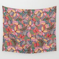 butterflies Wall Tapestries featuring Butterflies by AnaAna