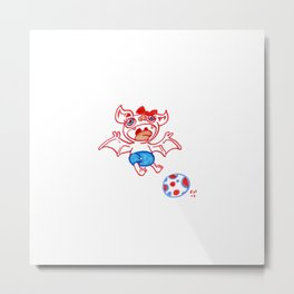 Fruit Bat 2- Soccer baby Metal Print