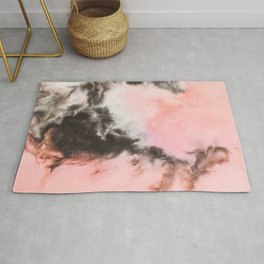 Pink and black marbled paper Rug
