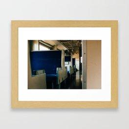 Empty Train Framed Art Print