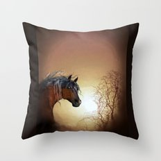 HORSE - Misty Throw Pillow