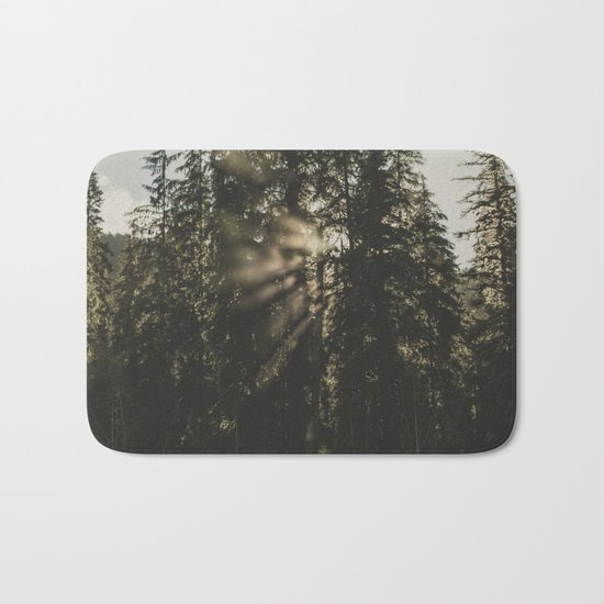 Sunset in the Woods Bath Mat