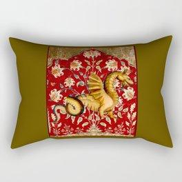 Coiled Dragon - Garden of Beasts Collection Rectangular Pillow