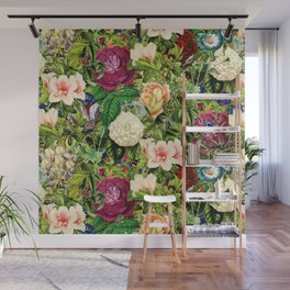 Vintage Floral Garden Wall Mural