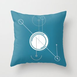 Schema Drawing: Minimalist Throw Pillow