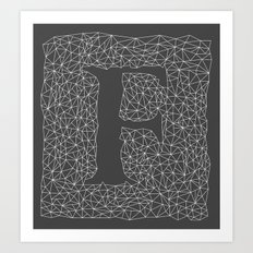 Light Letter F Art Print