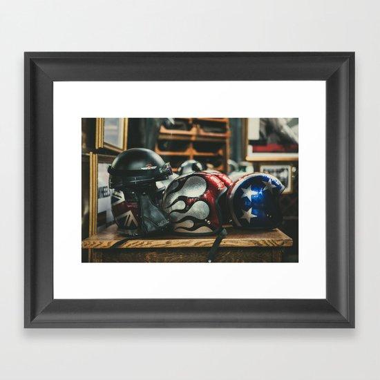 Helmets Framed Art Print