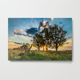 Sicilian Sunset Metal Print