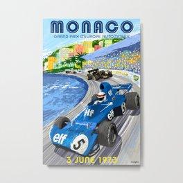 1973 Grand Prix Poster Metal Print