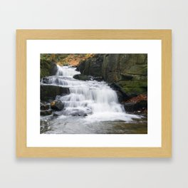 Lumsdale waterall Framed Art Print