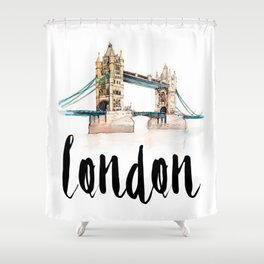 London watercolor Shower Curtain