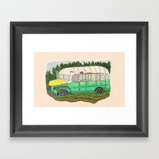Into the wild Magic Bus Framed Art Print