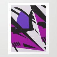 Dazzle purple large Art Print