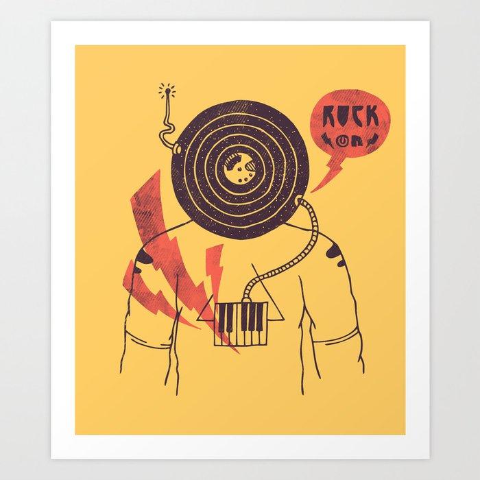 The Vinyl Frontier (alternate) Art Print