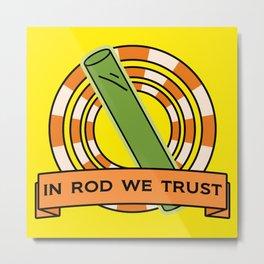 The Simpsons: In rod we trust Metal Print