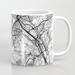 Stuttgart Map Gray Coffee Mug