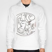 mucha Hoodies featuring Alphonse Mucha inspired Art Nouveaux Cadmium Illustration by Cadmium Craig