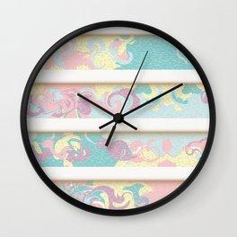 Pastel Marble Cake Pattern Wall Clock