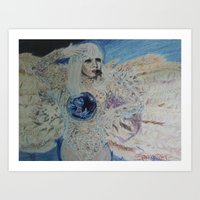 artrave Art Prints featuring artRAVE ANGEL by Simone Sprangers