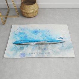 Klm Boeing 787 Dreamliner Rug