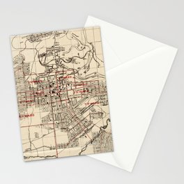 Vintage Map of Butte Montana (1909) Stationery Cards