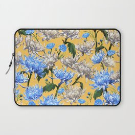 Mums Pattern  |  Yellow-Blue-Cream-White Laptop Sleeve