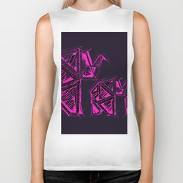 Hot Magenta Pink Elephants Biker Tank