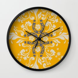 Lucky horseshoes II Wall Clock
