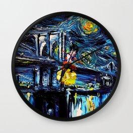 starry night son goku Wall Clock