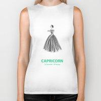 capricorn Biker Tanks featuring Capricorn by Cansu Girgin