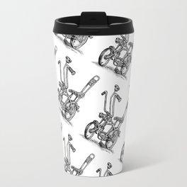 Skull Shifter Muscle Bike - Cartoon Retro Mod Stingray Bicycle Rat Rod Travel Mug