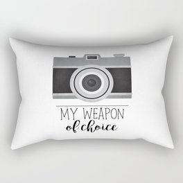 My Weapon Of Choice - Photographer Camera Rectangular Pillow