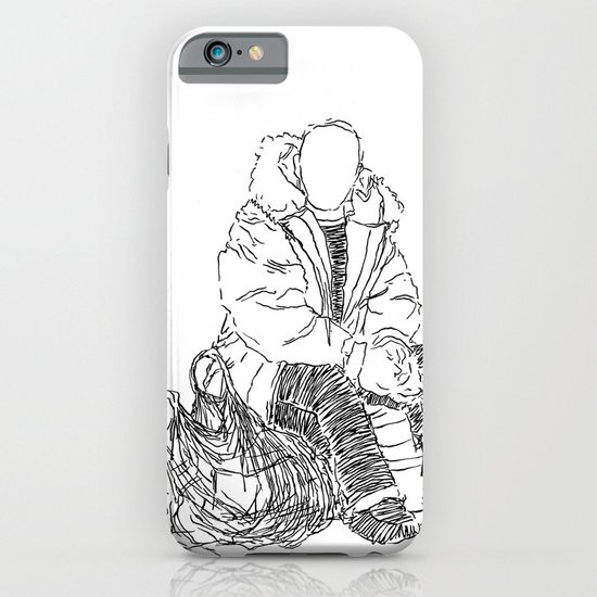 Just Sitting Down iPhone & iPod Case