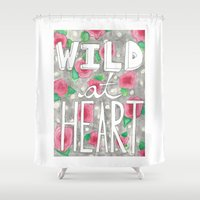 into the wild Shower Curtains featuring Wild by SweetLemons