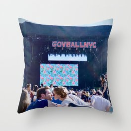 Lovers at GovBallNYC Throw Pillow