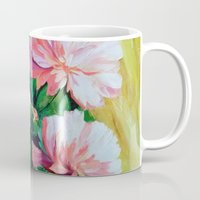 peonies Mugs featuring Peonies by OLHADARCHUK